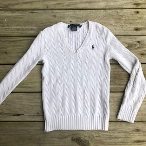 Ralph Lauren Sport White Knit Longsleeve Sweater